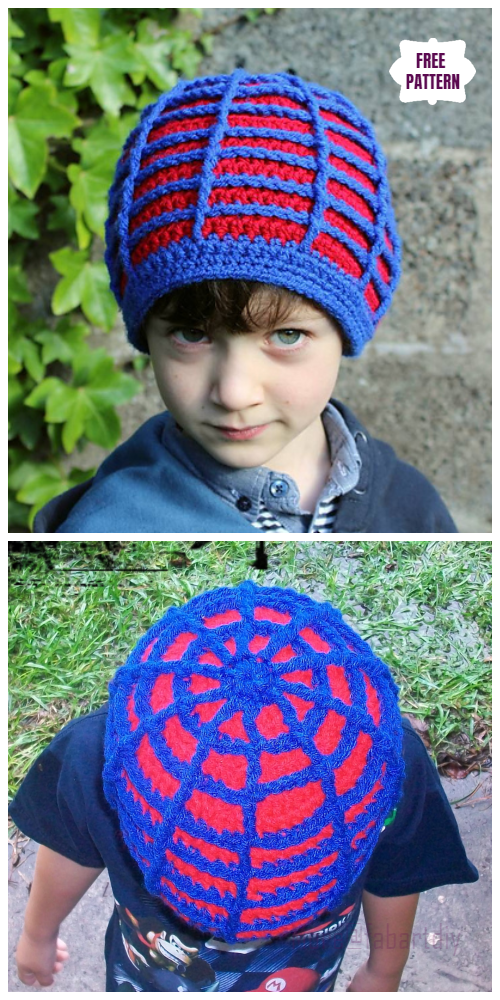 Crochet The Incredible Web Beanie Hat Free Crochet Pattern