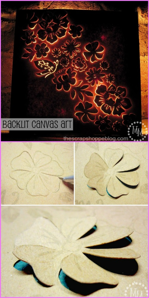 DIY Backlit Flower Canvas Art Tutorial
