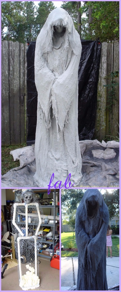 DIY PVC Monster Mud Reaper Ghost Halloween Decor Tutorial