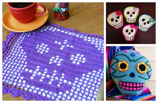 Day Of The Dead Skull Crochet Free Patterns