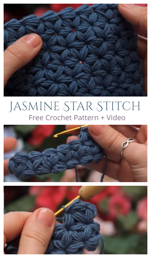 Jasmine Star Stitch Free Crochet Pattern + Video