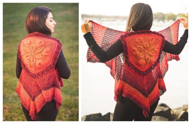 Women Embossed Vest Crochet Pattern + Video