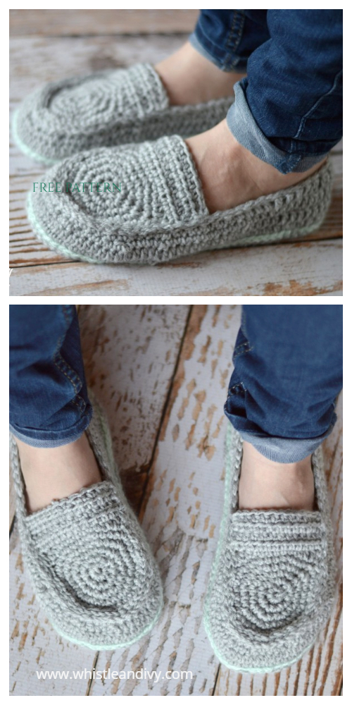 Women's Loafer Slippers Free Crochet Patterns
