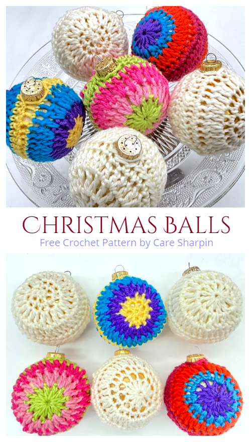 Christmas Balls Ornament Free Crochet Patterns