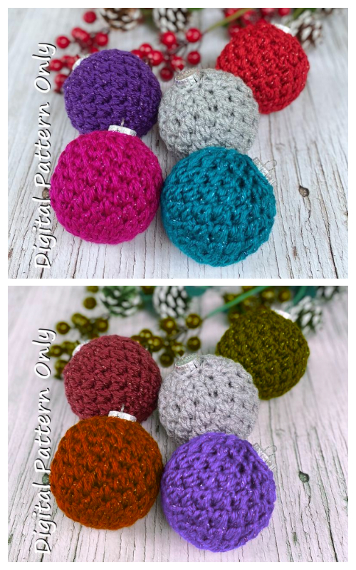 Forget me Not Christmas Ornament Crochet Patterns