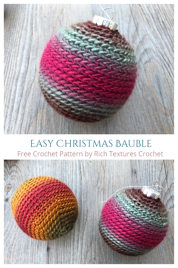 Easy Christmas Bauble Ornament Free Crochet Patterns