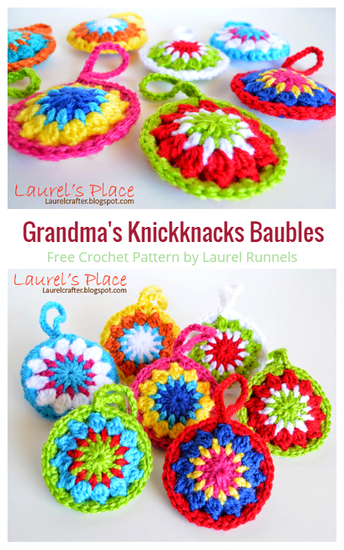 Grandma's Knickknacks Baubles  Free Crochet Patterns