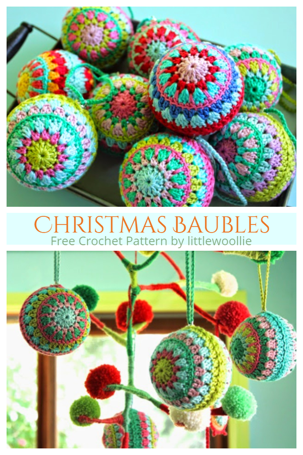 Christmas Bauble Ornament Free Crochet Patterns