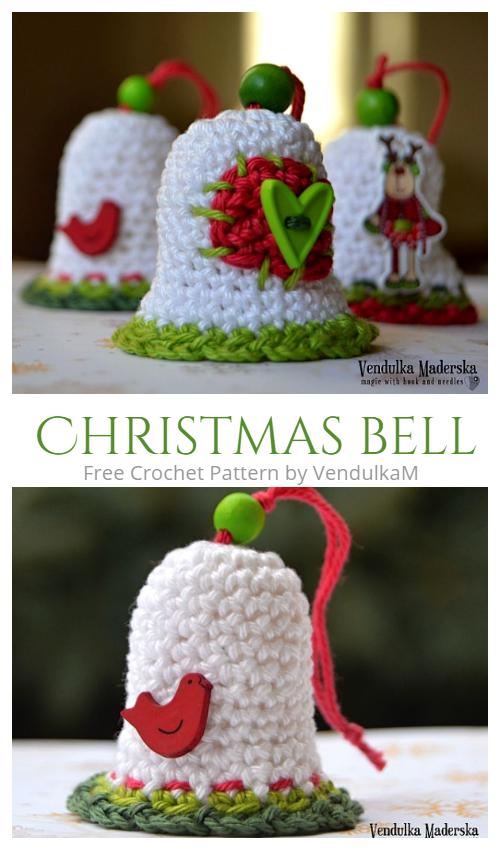 Crochet Christmas Bells Free Crochet Pattern