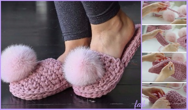 Crochet T Shirt Yarn House Slippers Shoes Free Pattern