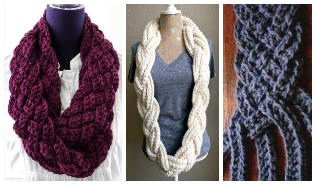 Braided Scarf Free Crochet Patterns