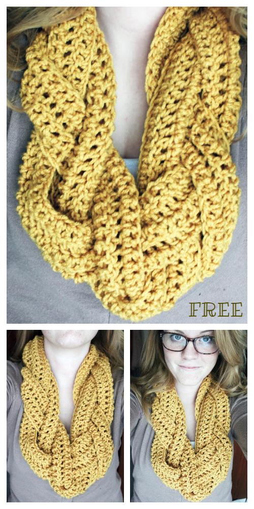 Braided Scarf Free Crochet Patterns