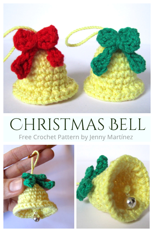 Crochet Christmas Bells Free Crochet Pattern