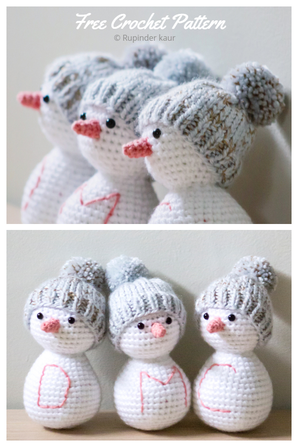 Crochet Snowman friends Amigurumi Free Patterns