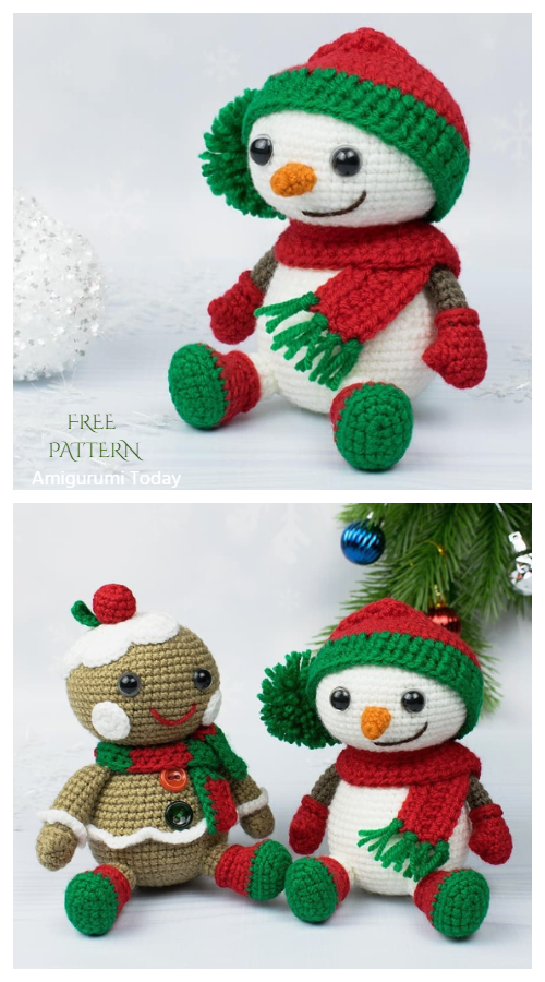 Crochet Christmas Snowman Amigurumi Free Patterns