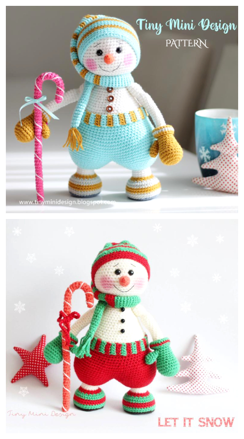Crochet Sweet Snowman Amigurumi Patterns