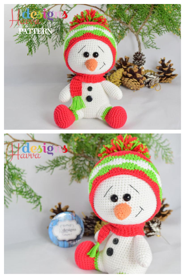 Crochet Cute Snowman Amigurumi Patterns