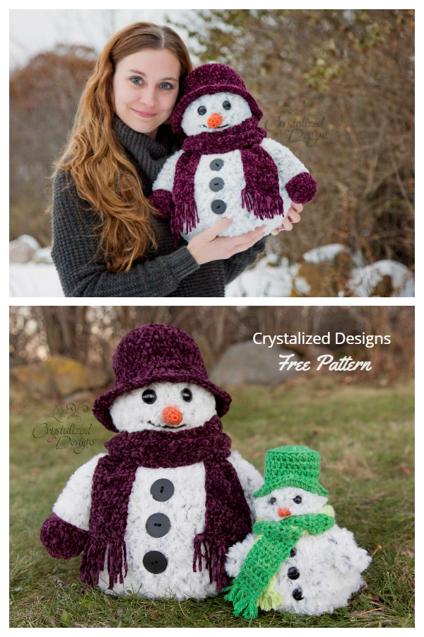 Christmas Crochet Snowman Duo Amigurumi Free Patterns