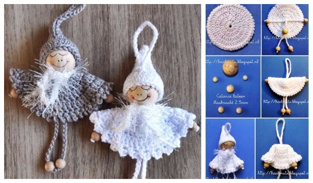 Crochet Bead Angel Ornament Free Crochet Pattern