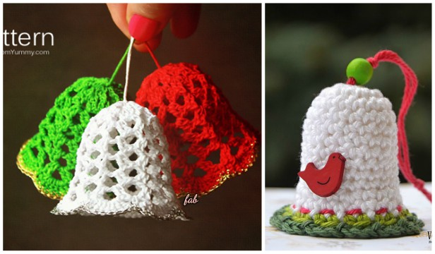 Crochet Christmas Bells Ornaments Free Patterns Video