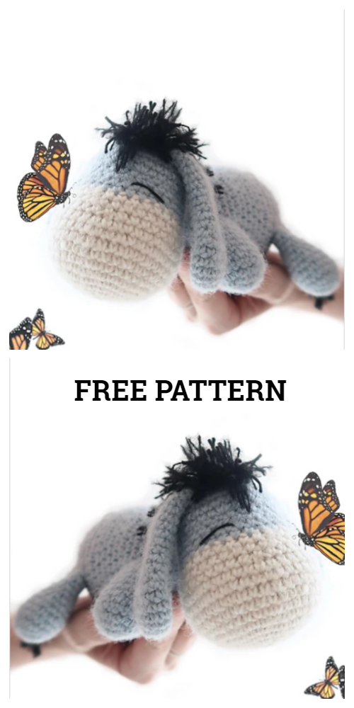 Crochet Eeyore Amigurumi Free Patterns