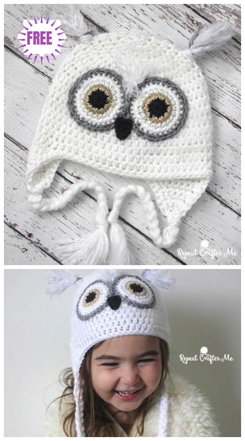 Crochet Baby Snowy Owl Hat Free Crochet Pattern