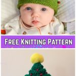 Knit Christmas Tree Hat & Elfin Socks Free Knitting Pattern by Patti Pierce Stone