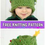 Knit Baby Christmas Tree HaFree Knitt ing Pattern By Gina Michele