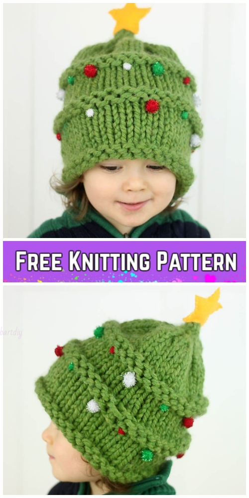 Knit Baby Christmas Tree HaFree Knitt ing Pattern By Gina Michele