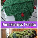 Knit Adult Christmas Tree HatFree Knitting Pattern byBarbro Wilhelmsson