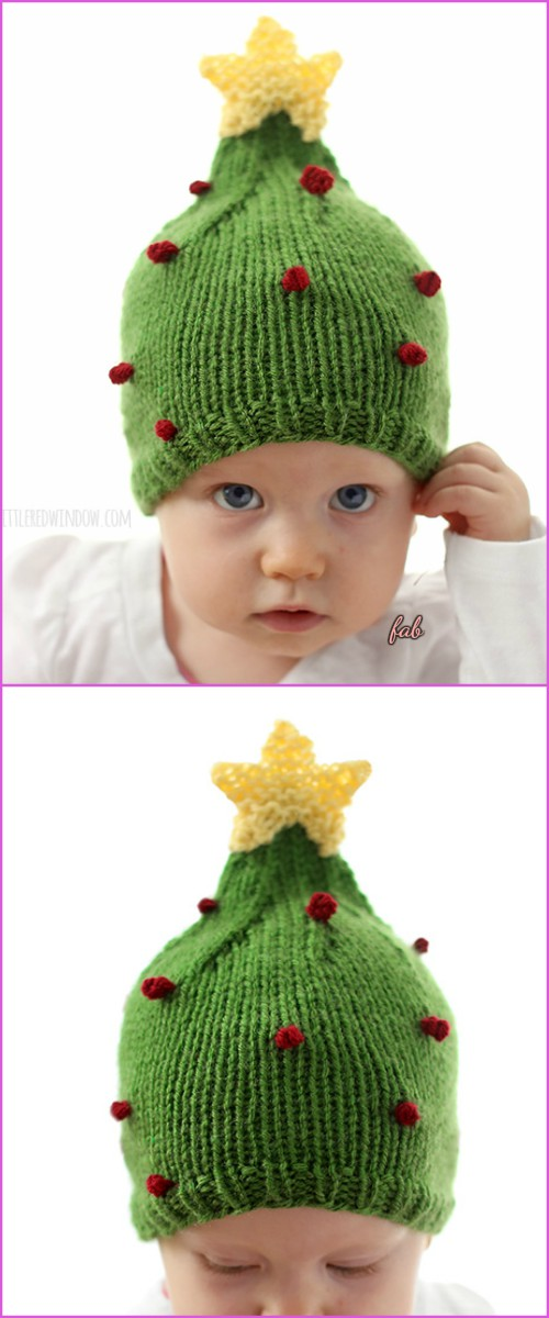 Knit Christmas Tree Hat Free Patterns - DIY Magazine 677f4e4e3dd