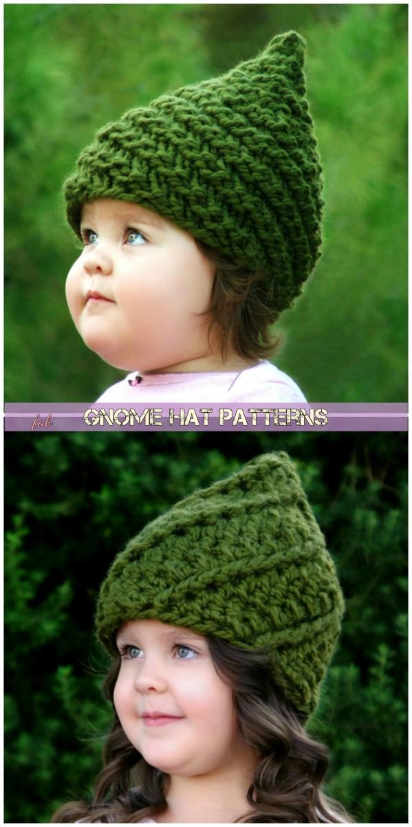Knit Crochet Gnome Hat Patterns