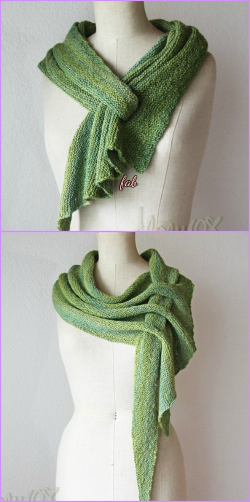 Knit Arrow Caterpillar Pfeilraupe Scarf Free Pattern