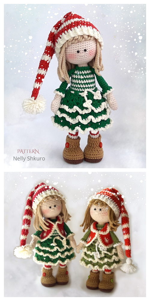 Crochet Jovie, the Christmas Elf  Amigurumi Pattern