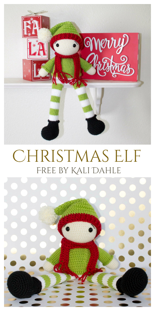Crochet Christmas Elf Doll Amigurumi Free Pattern