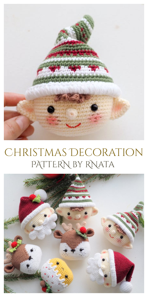 Crochet Christmas Elf Ornament Amigurumi Patterns