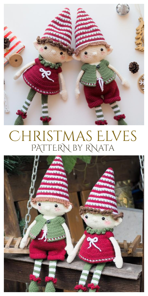 Crochet Christmas Elves Amigurumi Patterns