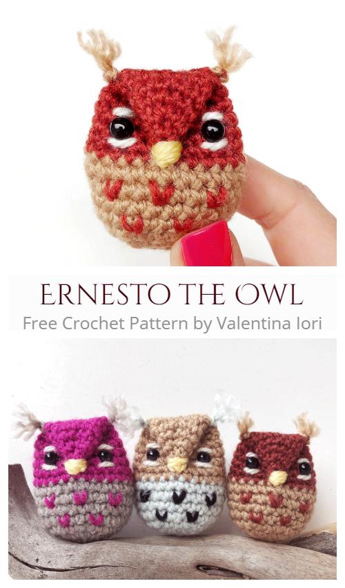 Crochet Ernesto the Owl Amigurumi Free Patterns