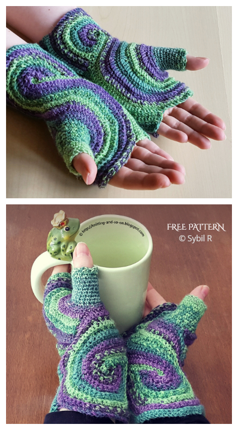 Stylish Octavo Fingerless Gloves Free Crochet Patterns