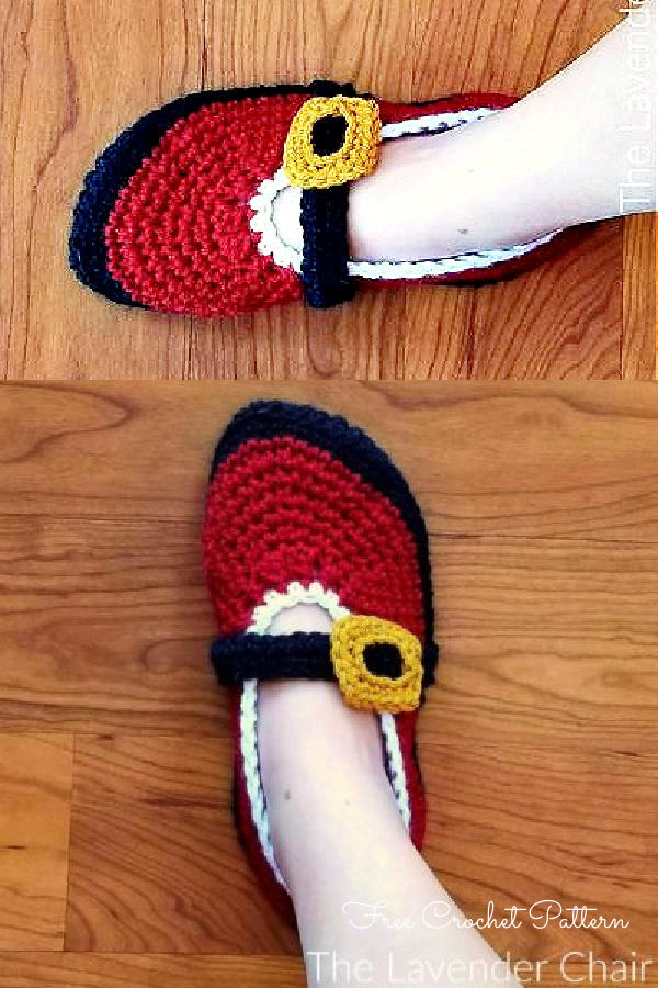 Mrs. Claus's Ballet Slippers Free Crochet Patterns