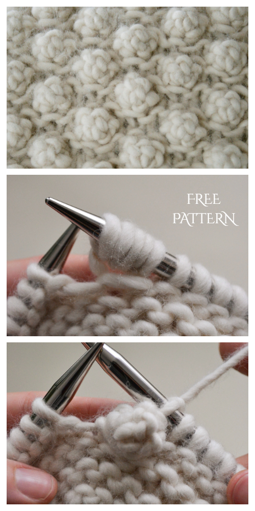 5 Stitch Garter Bobble Free Knitting Pattern