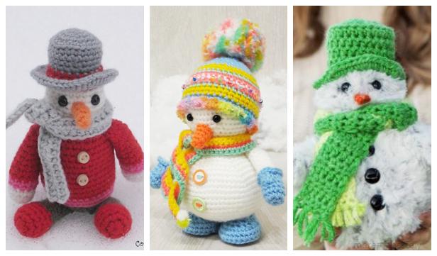 Crochet Amigurumi Snowman Free Crochet Patterns