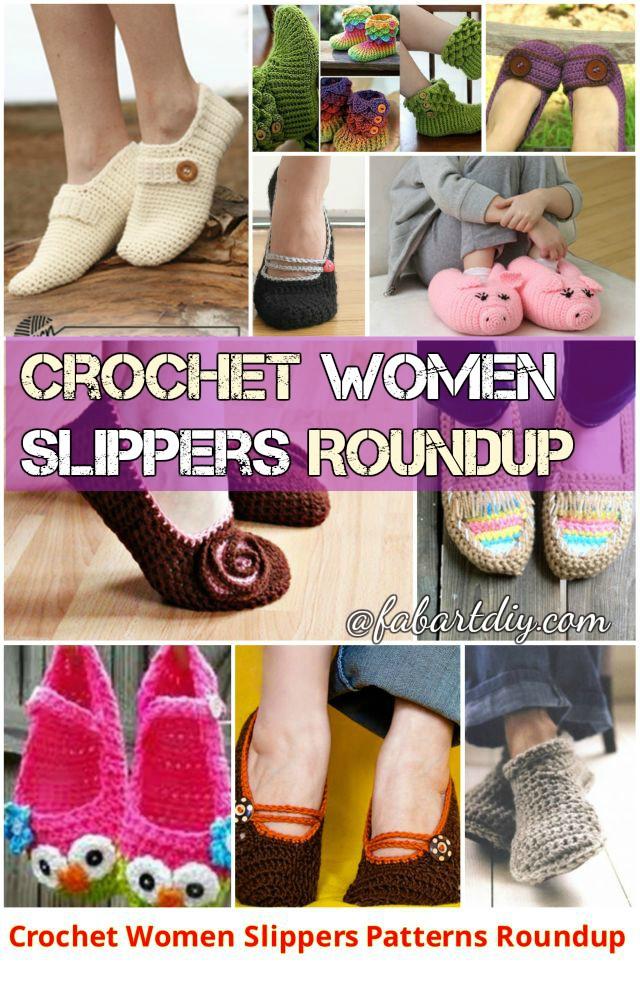 Crochet Women Slippers Free Patterns
