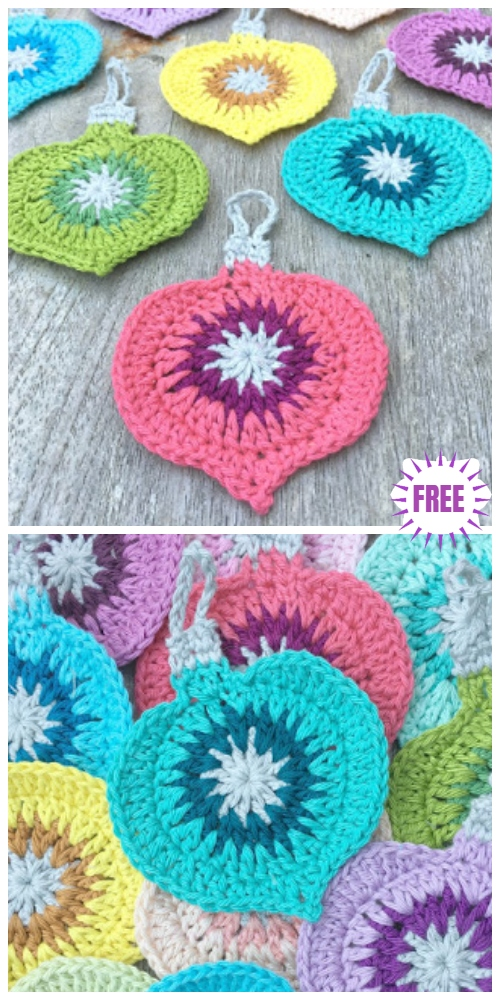 Crochet Christmas Ornament Applique Free Crochet Pattern