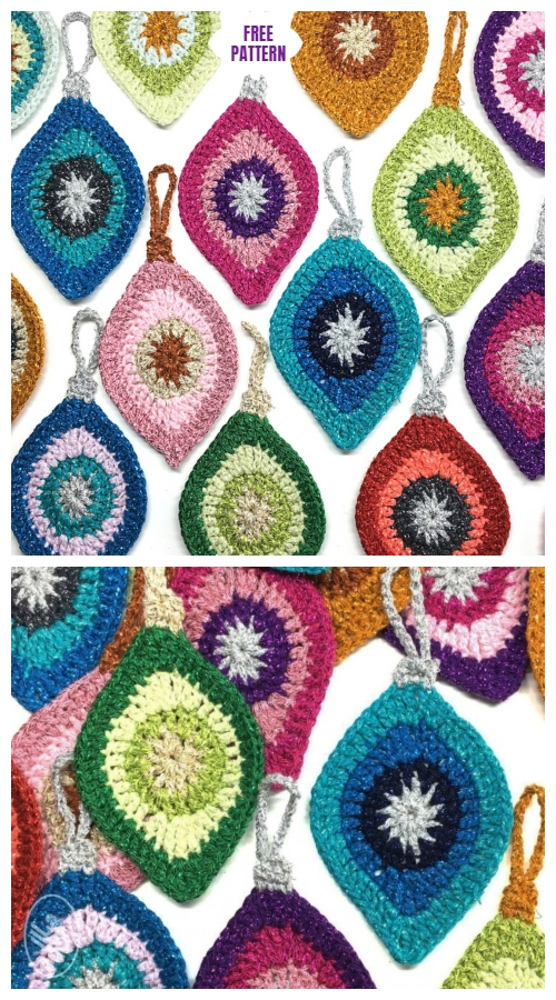 Crochet Christmas Ornament Applique Free Crochet Patterns