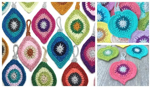 Crochet Christmas Ornaments Patterns.Crochet Christmas Ornament Applique Free Pattern