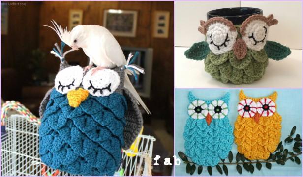 Crochet Cute Owls Tutorial Free Patterns | Rina Watt Blogger ... | 361x616