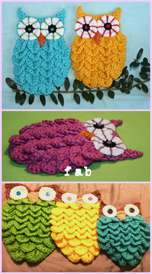Crochet Crocodile Stitch Owl Free Pattern