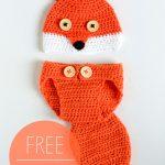 Crochet Baby Fox Hat Diaper Set Free Crochet Pattern