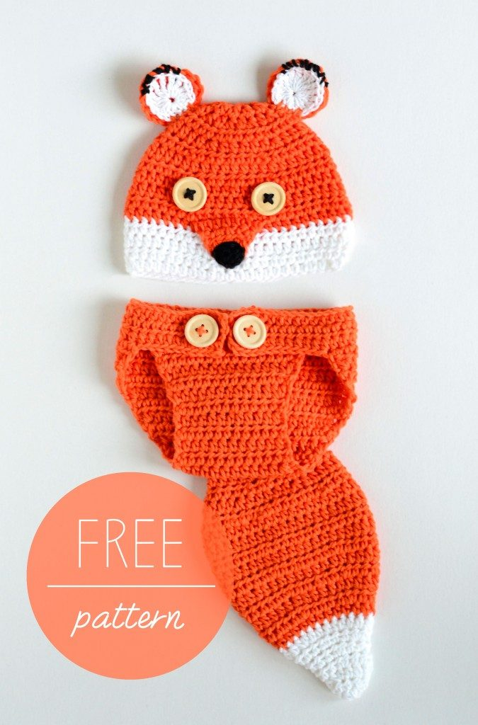 Crochet Baby Fox Hat Diaper Set Free Crochet Pattern